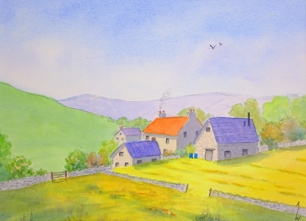 Ann Whisenant, Fine Art Paining, Black Mountain, NC, The Red House-004.JPG