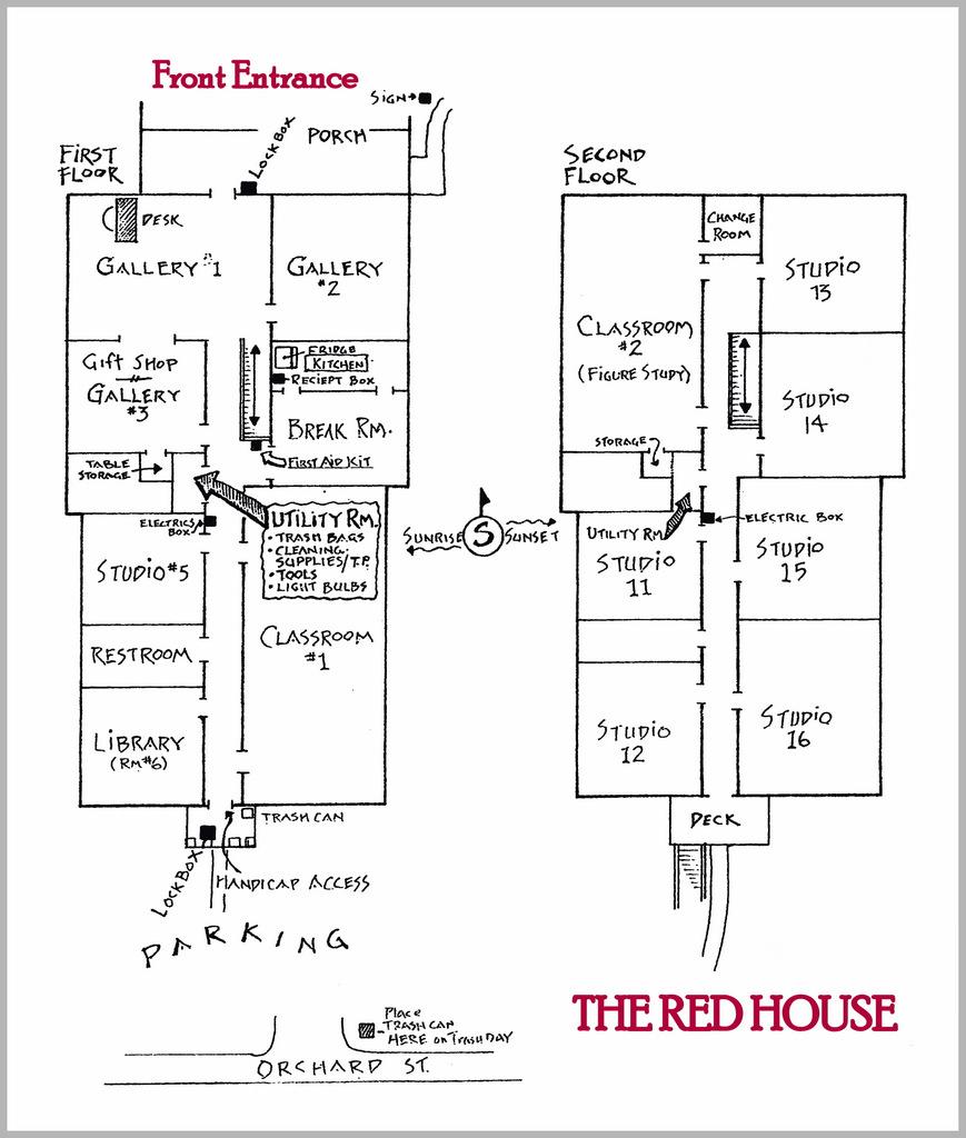 The Red House - Studio Floor Plan