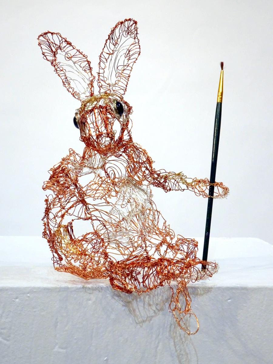 Lois Steele, Wire Sculpture, Fine Art, SVFAL.JPG