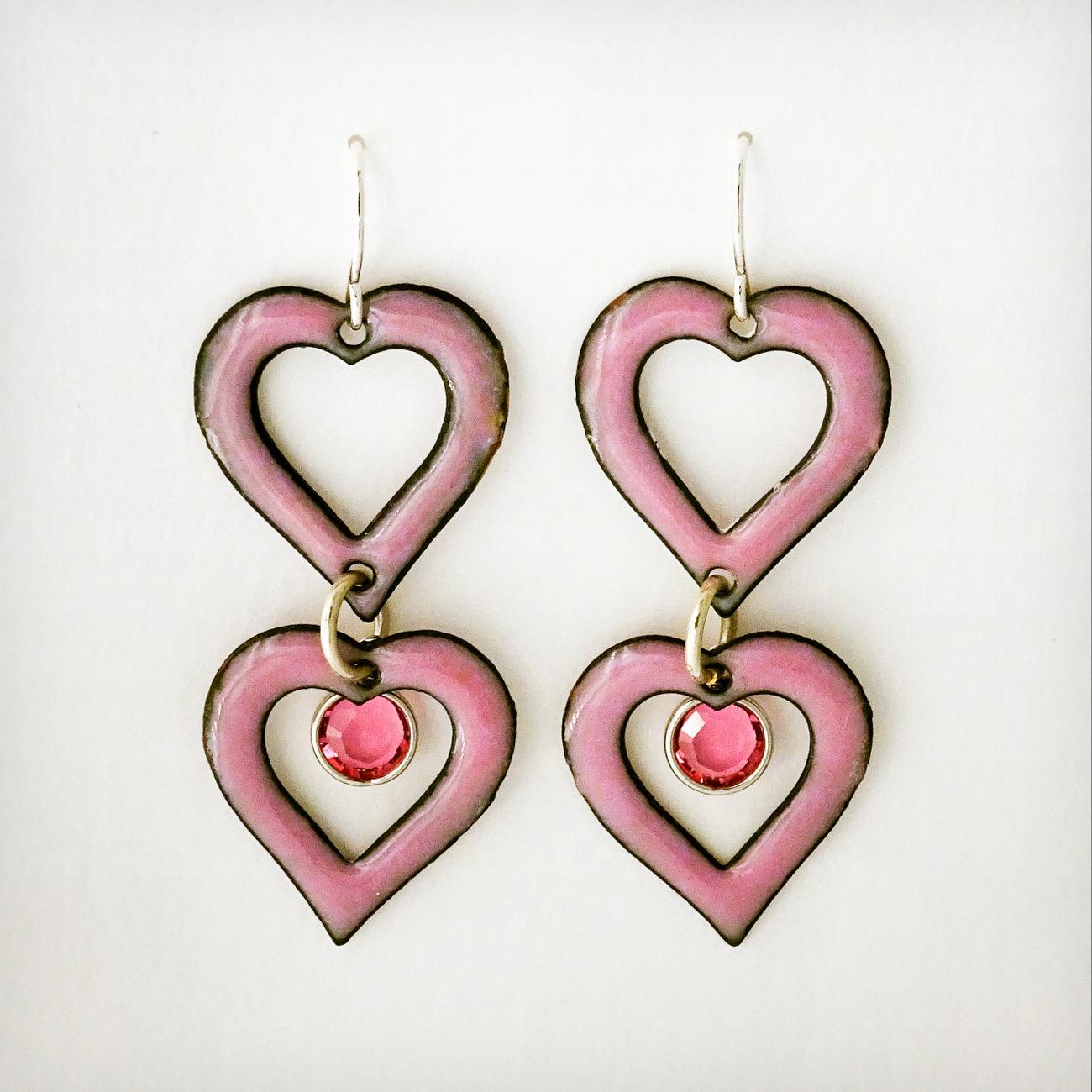 6-BLUE PANSY, D. McEachen, Double Heart Earrings-003.JPG