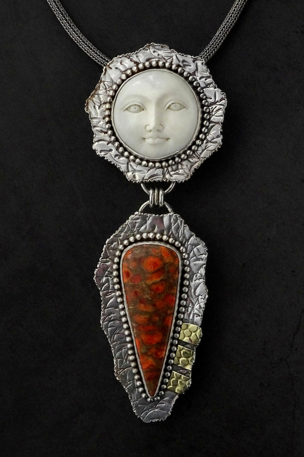 1-Sylvia McCollum, Handcrafted Pendant, Faces of Courage-002.JPG