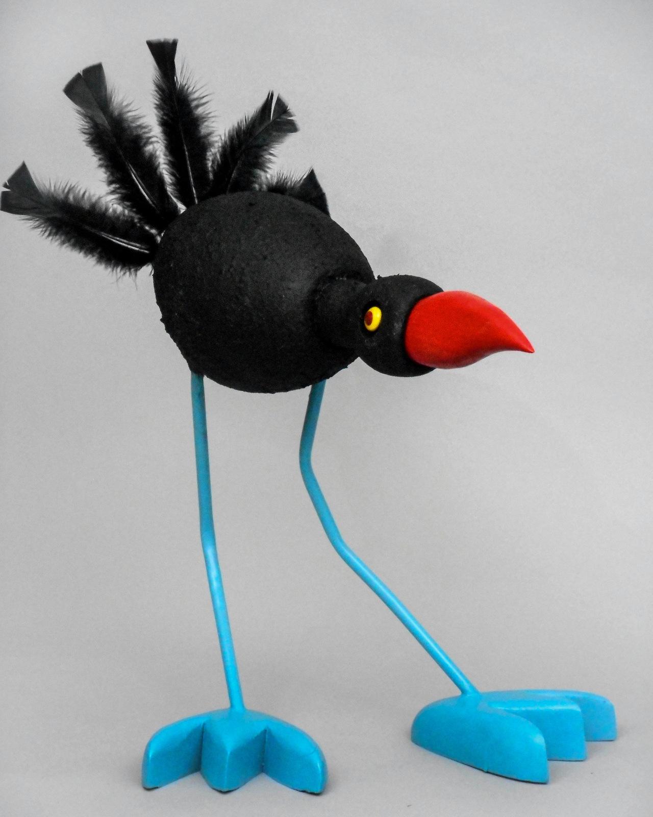 14- Funny Bird - Mixed Media Found Object Art, Alan Kaufman, Asheville -003.JPG