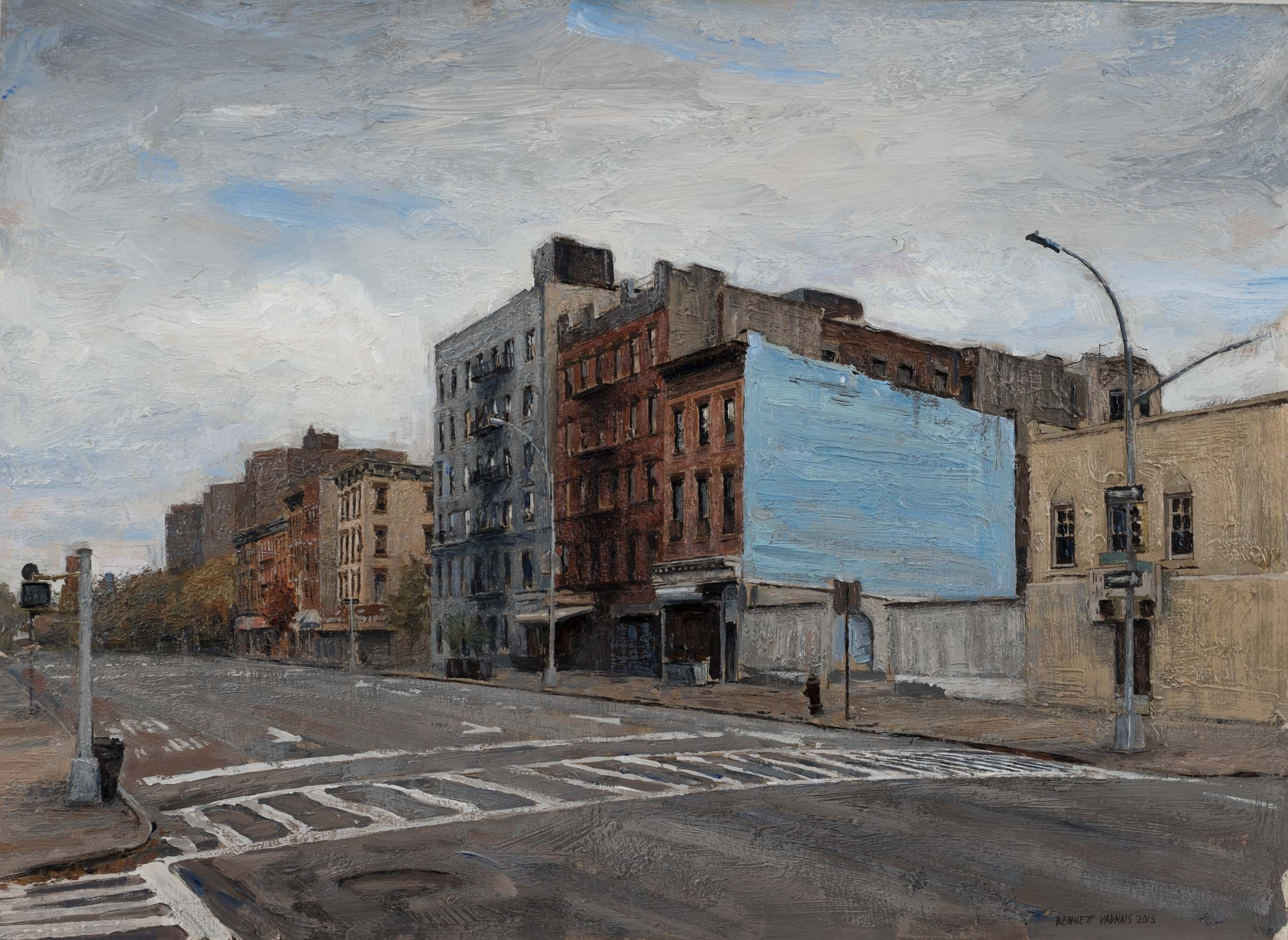 "118th St.  Acrylic 11""x14"""