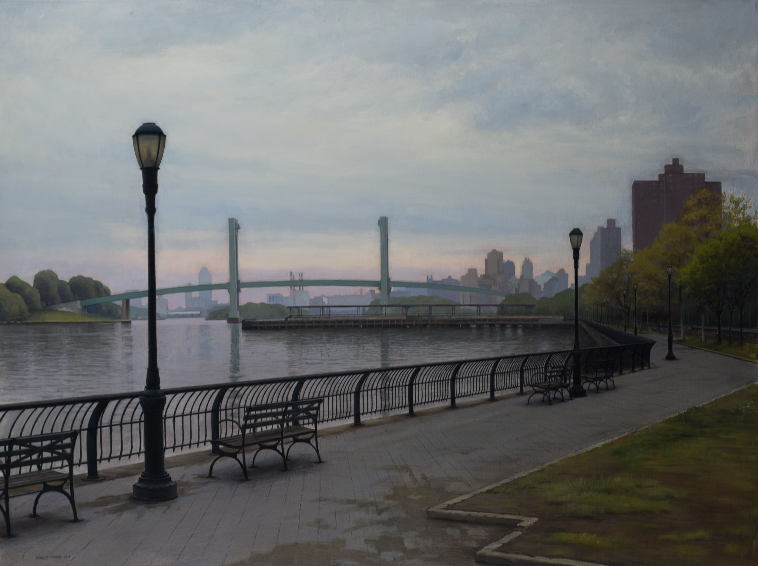 "East River  Acrylic 26""x39"""