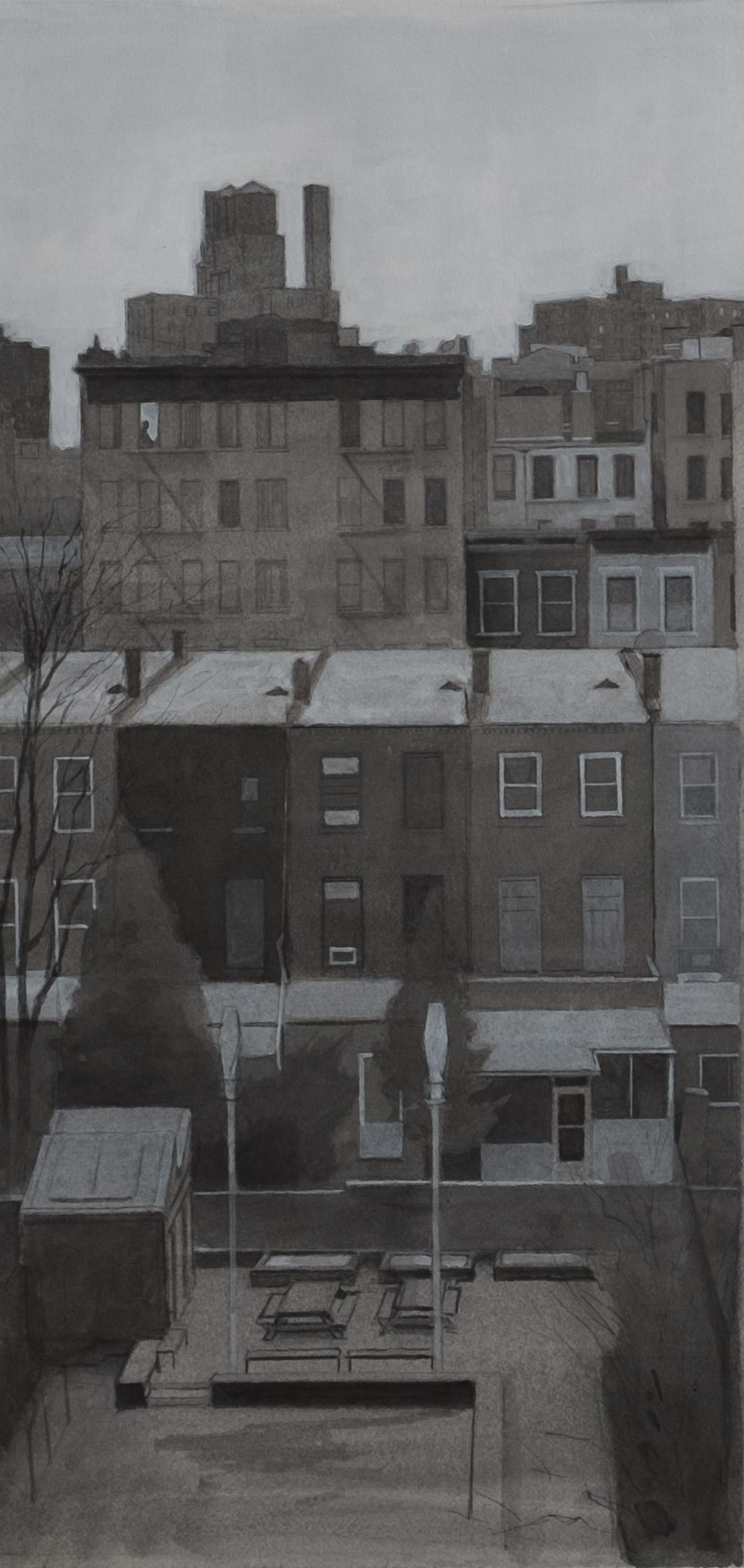 """Neighbors (Study)  Acrylic 8""""x16"""""""