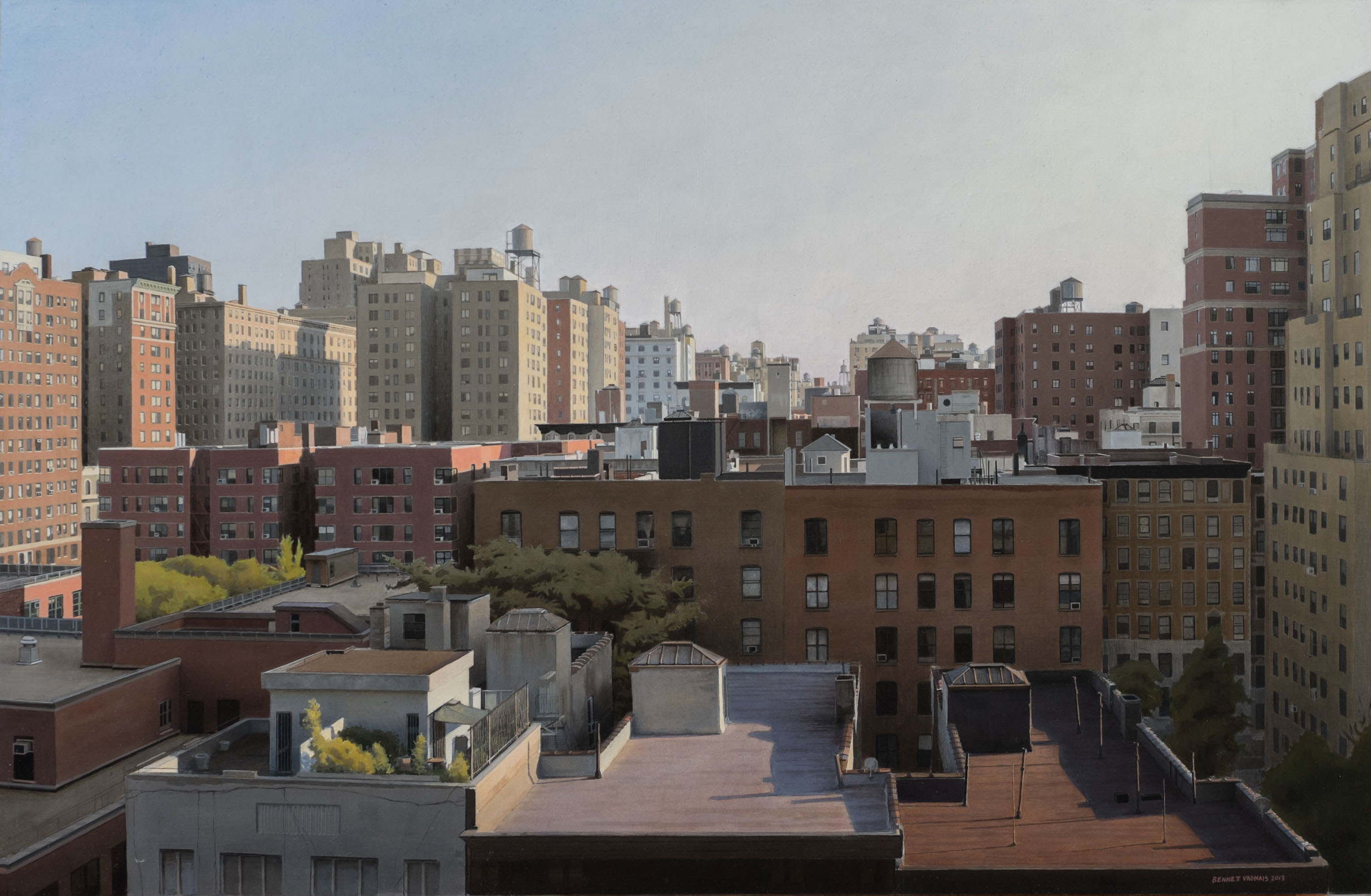 "Upper West Side Balcony  Acrylic 20""x30"""