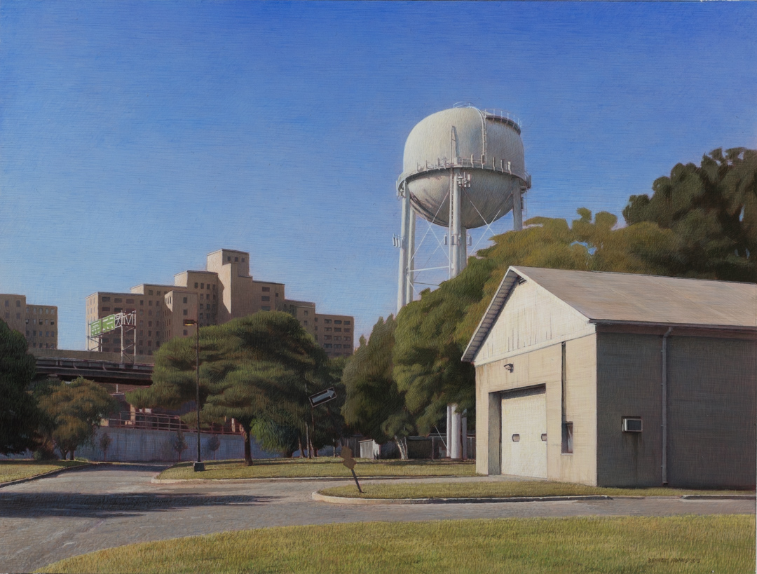 "Water Tower  Acrylic 13.5""x18"""