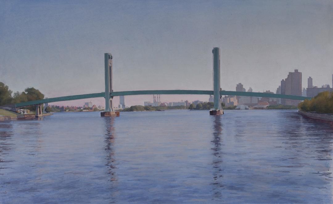 "Randalls Island Footbridge  Acrylic 10""x16"""