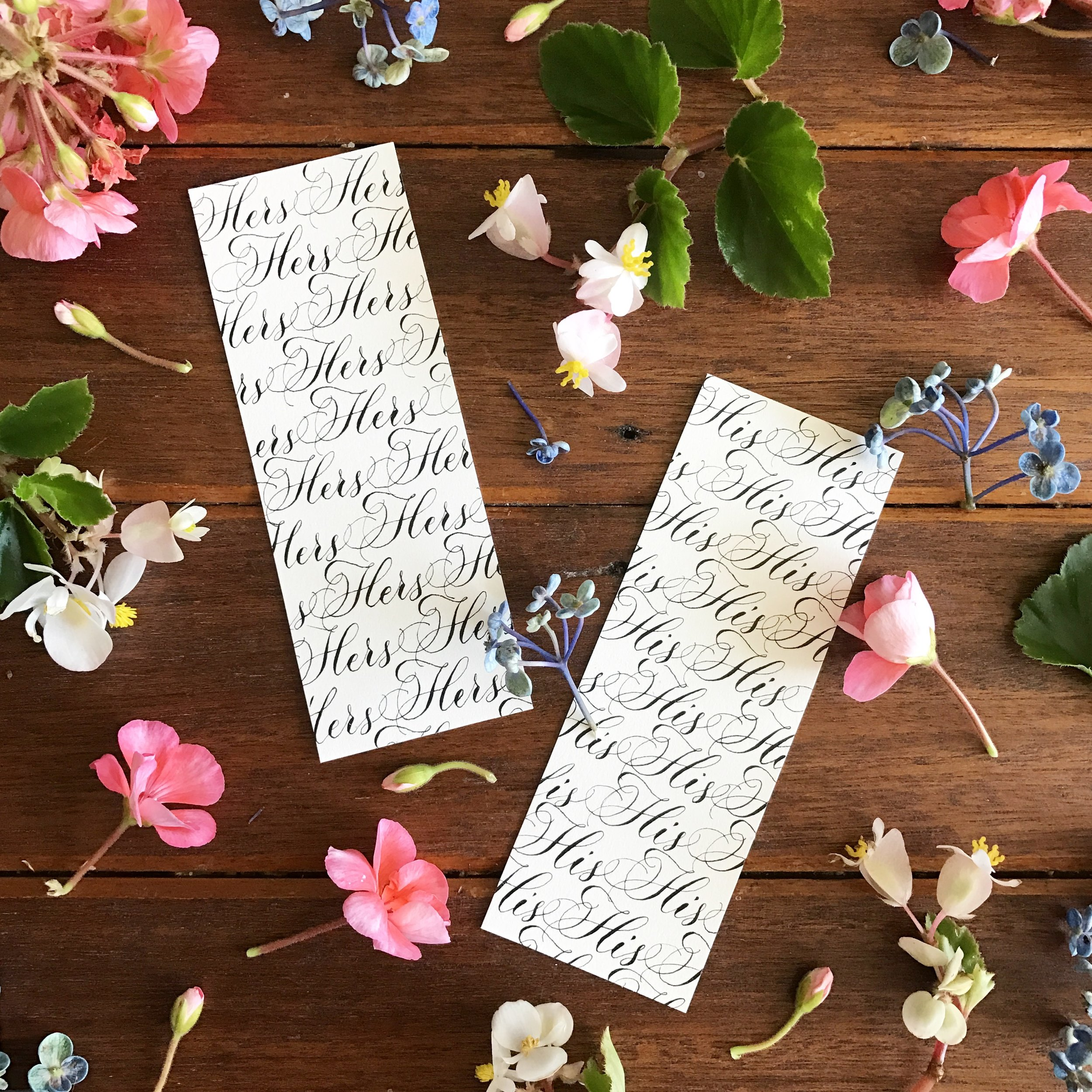 His and Hers bookmarks