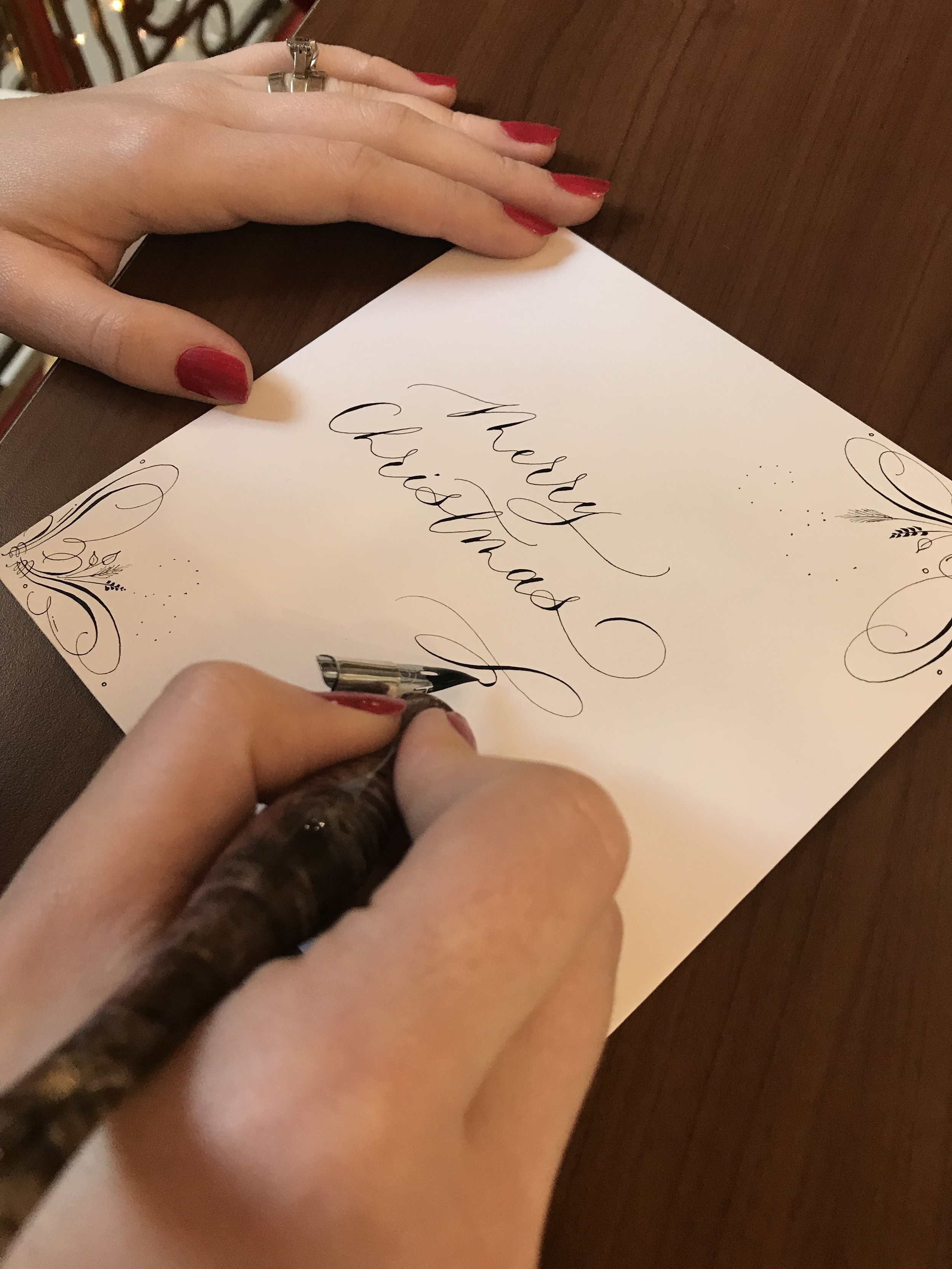 On-site calligraphy