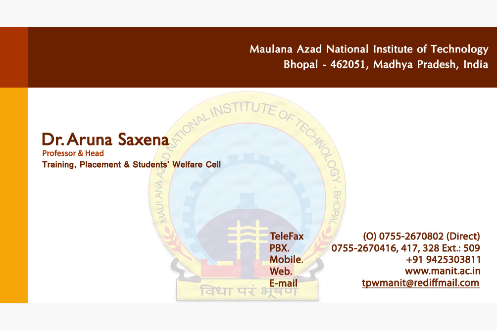 Placement Cell Business Card