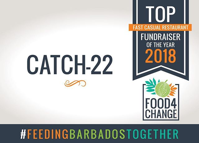 @catch22.barbados, your donation box was tops!  Spare change added up to $259.35 in donations!  They will receive $500.00 in supplies from BW Hotel & Restaurant Supplies! #Food4Change #FeedingBarbadosTogether #RestaurantMonth #FightingHunger #ThankYou