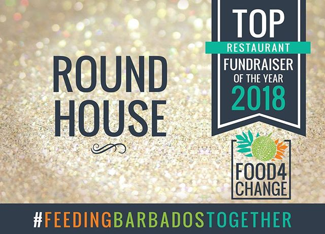 A huge congrats to @roundhousebarbados staff and diners for making them #1 with donations totaling $1166.00!  They will receive $1500.00 in supplies from BW Hotel & Resturant Supplies!  #Food4Change #FeedingBarbadosTogether #RestaurantMonth #FightingHunger #ThankYou