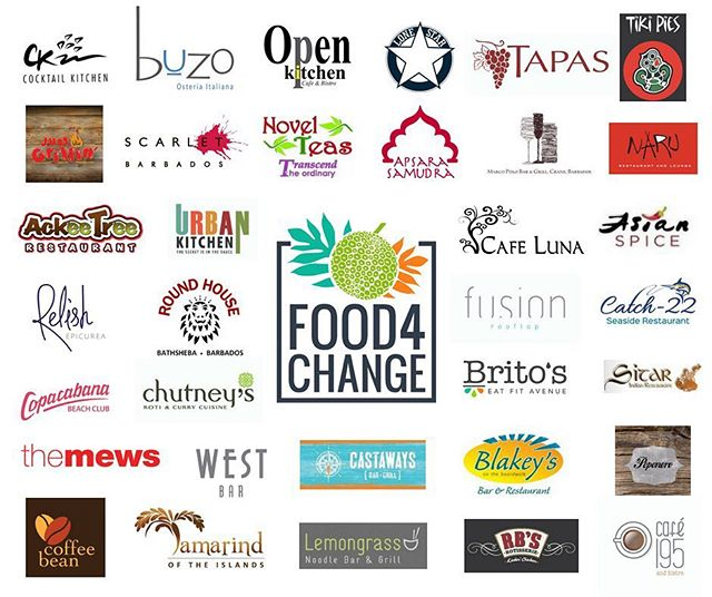 When 34 restaurants join together to #fighthunger Big Change happens!  Thank you to @ckbarbados @buzobarbados @openkitchenbarbados @lonestarbarbados @tapasbarbados @tikipies @justgrillinbds @novelteasbarbados @apsarasamudra @marcopolobar @narurestaurant @ackeetreerestaurant @urban_kitchen_bim @cafelunabarbados @asianspiceindianrestaurant @relishbarbados @roundhousebarbados @fusionrooftop @catch22.barbados @copacabanabb @chutneysbim @britosbarbados @sitarbarbados @themewsbarbados @westbarbarbados @castawaysbarbados @blakeysontheboardwalk @pepenerobarbados @coffeebean246 @lemongrassbarbados @rbschicken @195cafe for participating in Food4Change 2018!  #Food4Change #FeedingBarbadosTogether #RestaurantMonth #ThankYou