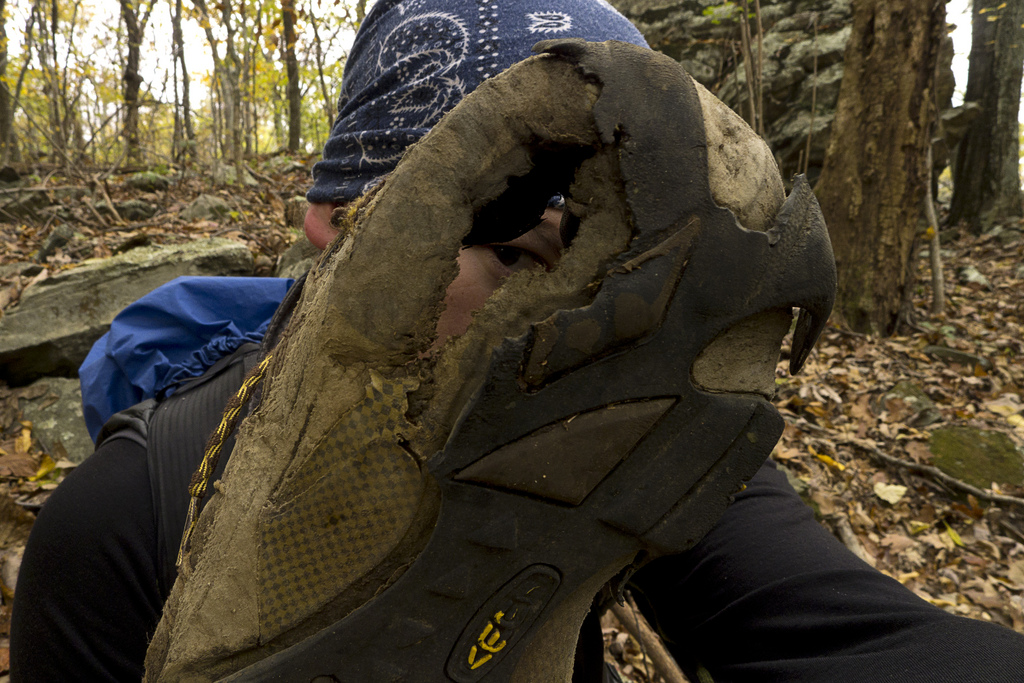 My Keen Boots after 900 miles on the AT