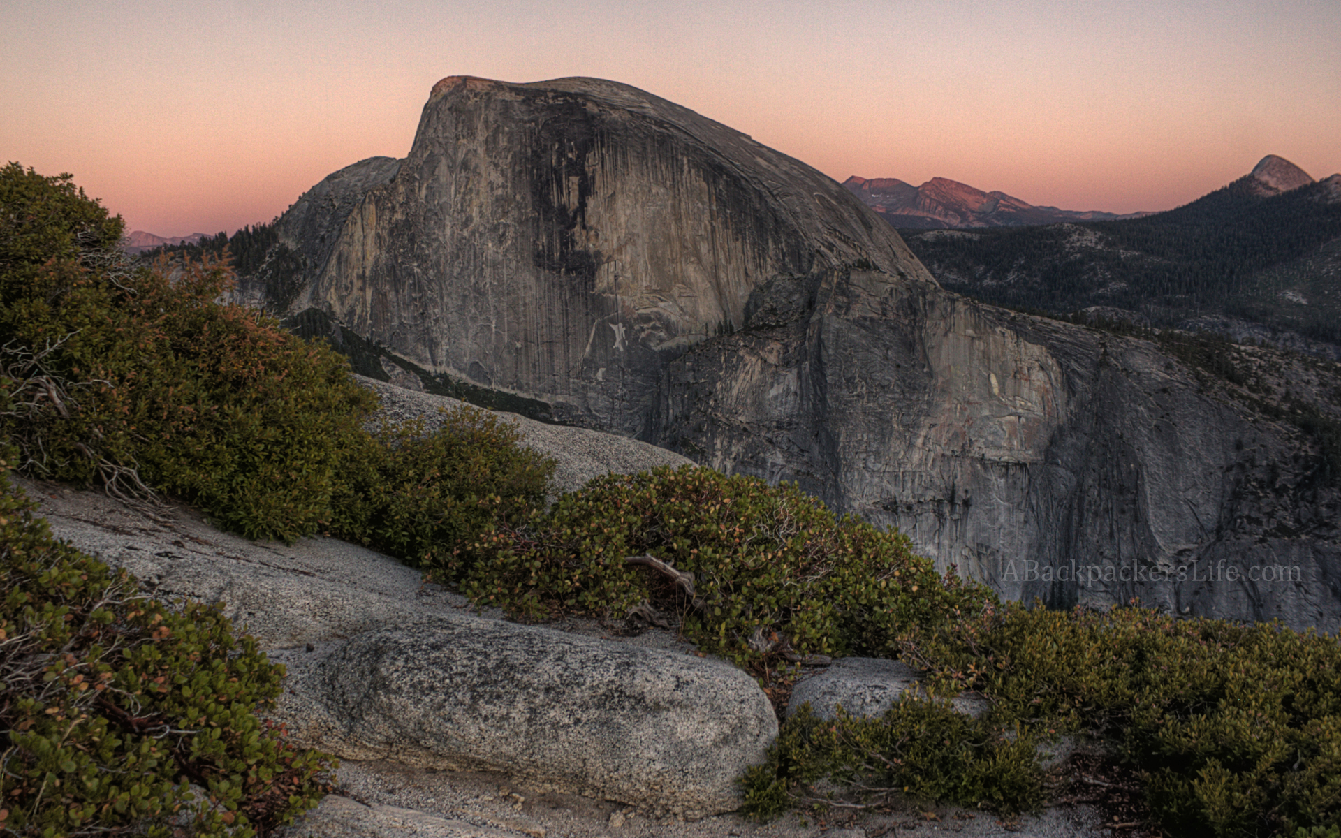 The Sunset and Half Dome