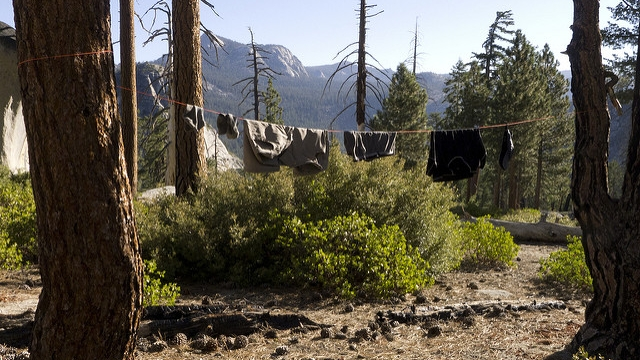 Drying My Clothes in Yosemite National Park