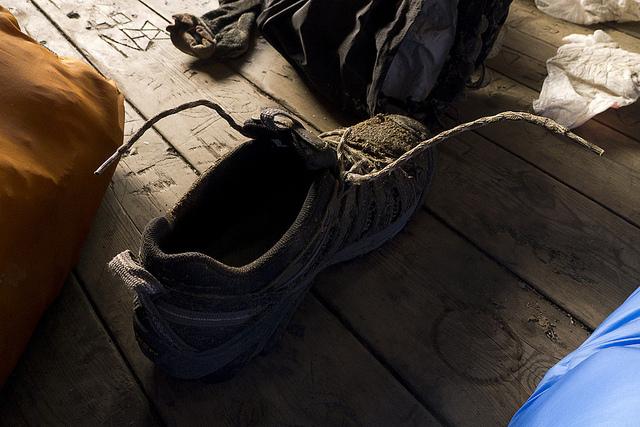 My Frozen Shoe, Teneessee on the Appalachian Trail