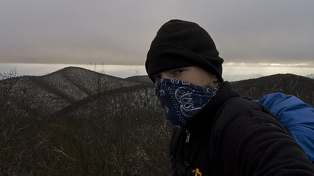 Bandanna as a scarf, Tennessee on the Appalachian Trail