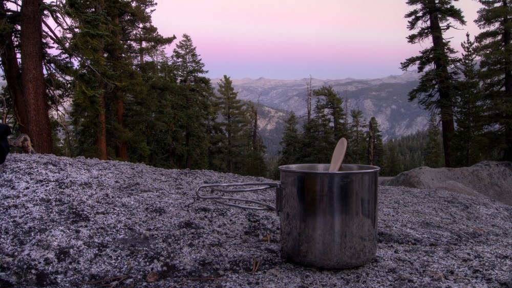 Dinner on the John Muir Trail
