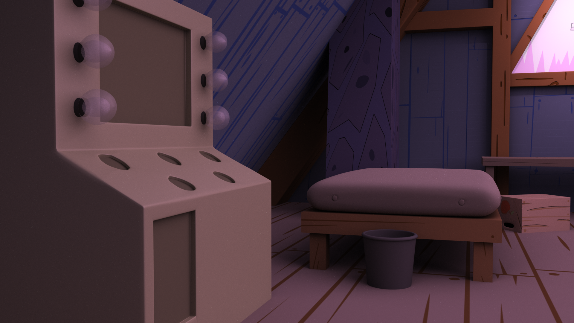 Gravity Falls Bedroom Mock Up - #4