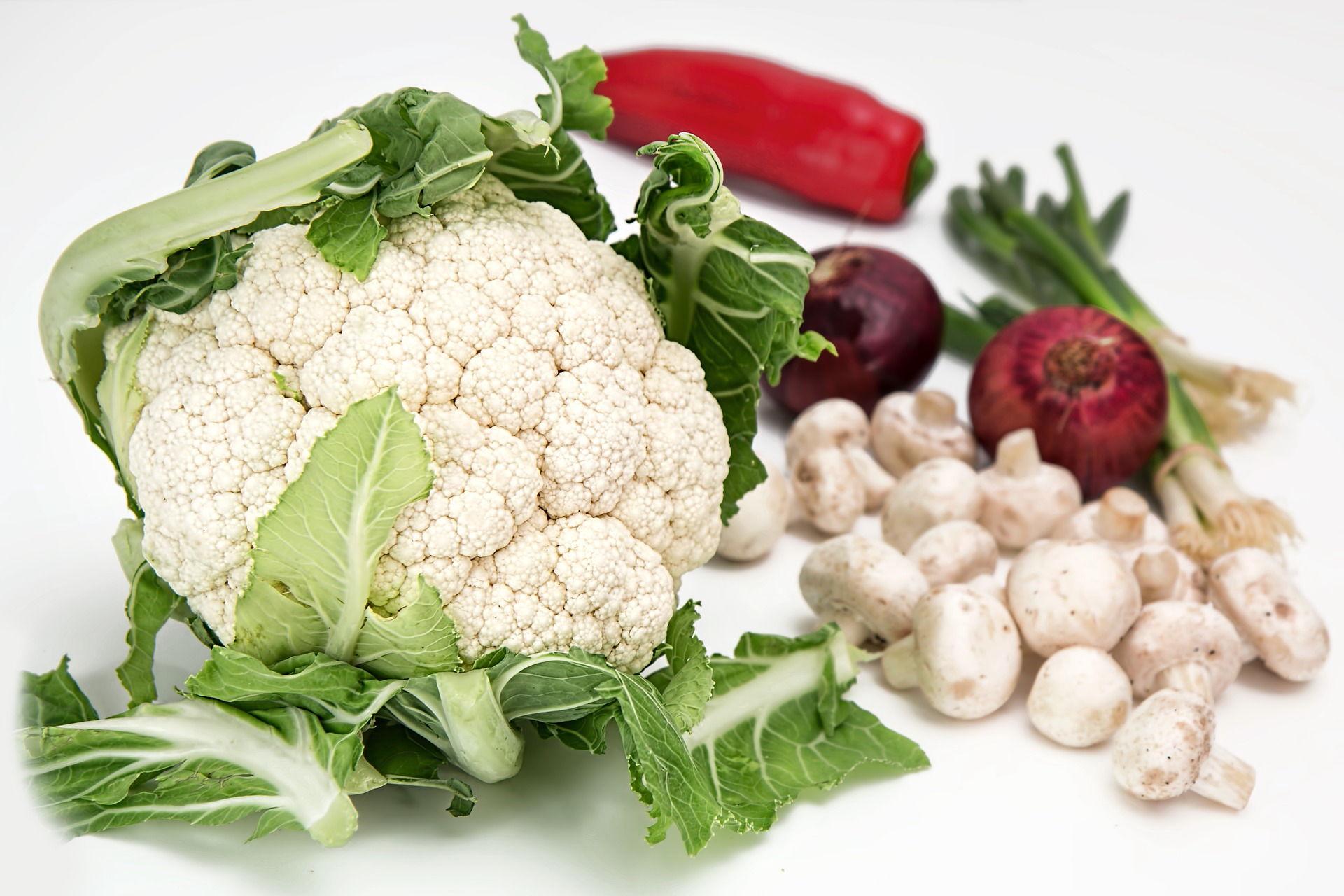 Cauliflower and vegetables
