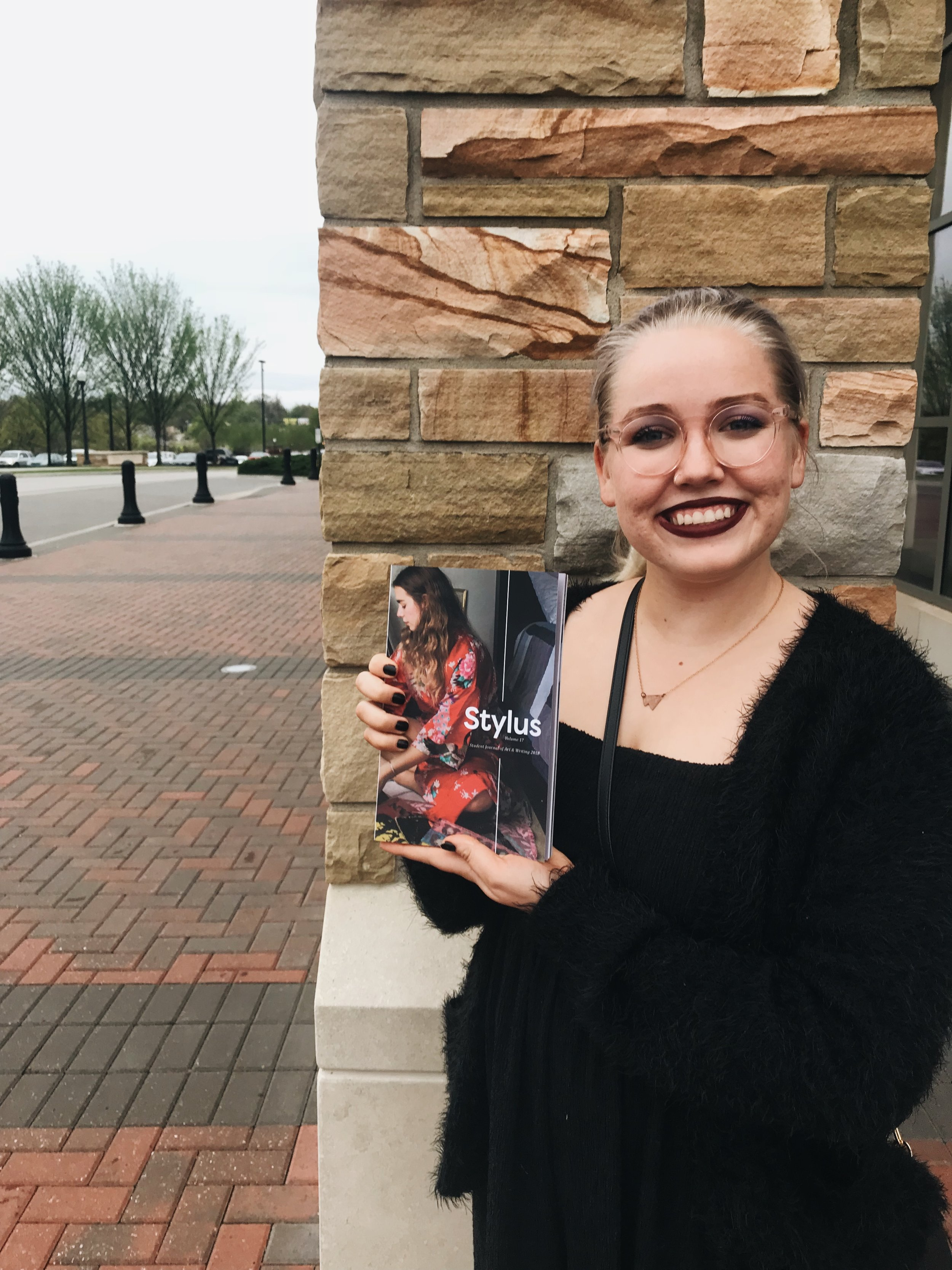 I got a piece published in this year's edition of Stylus, TU's literary magazine!