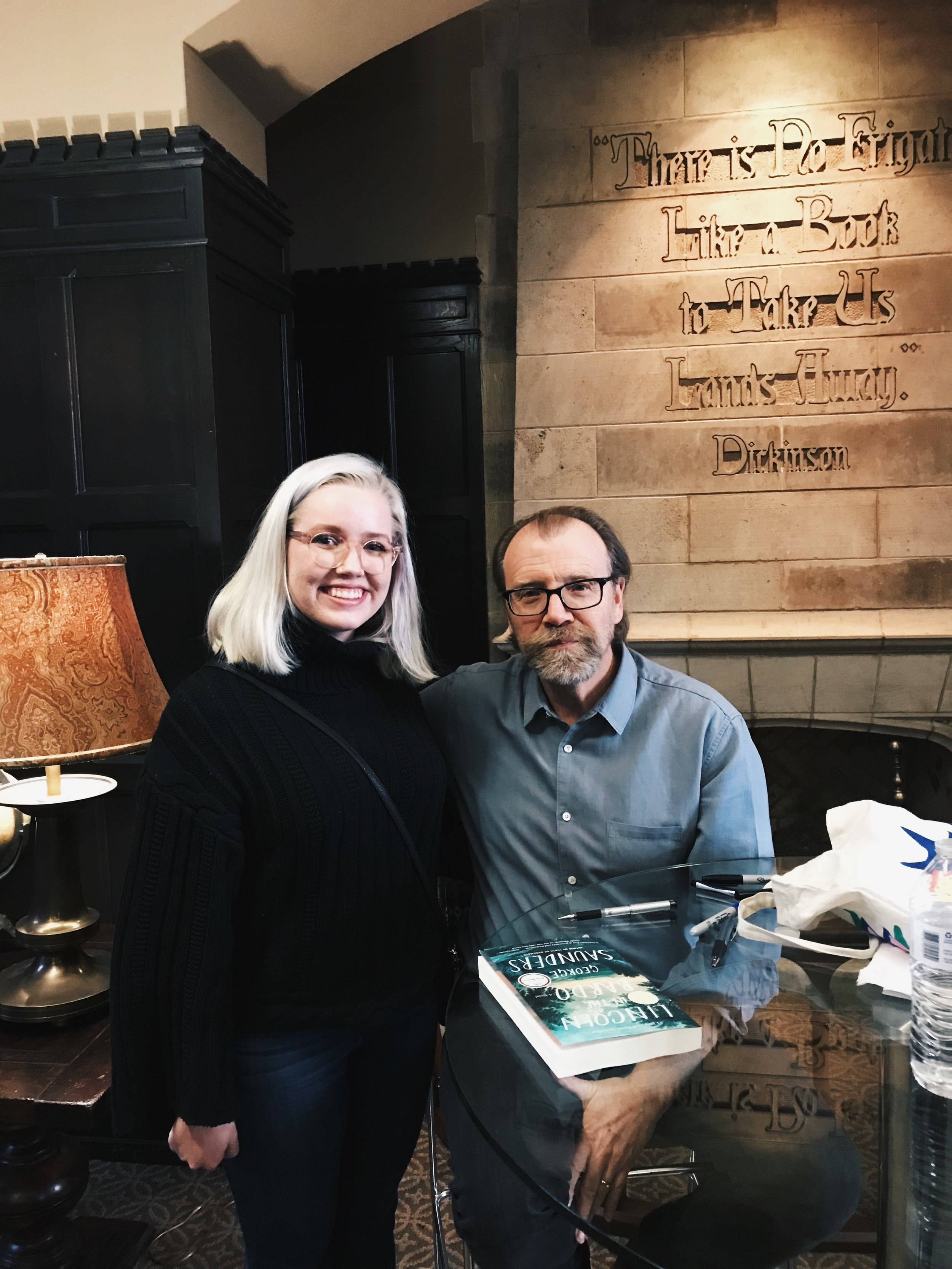 got to meet and chat with George Saunders when he visited campus