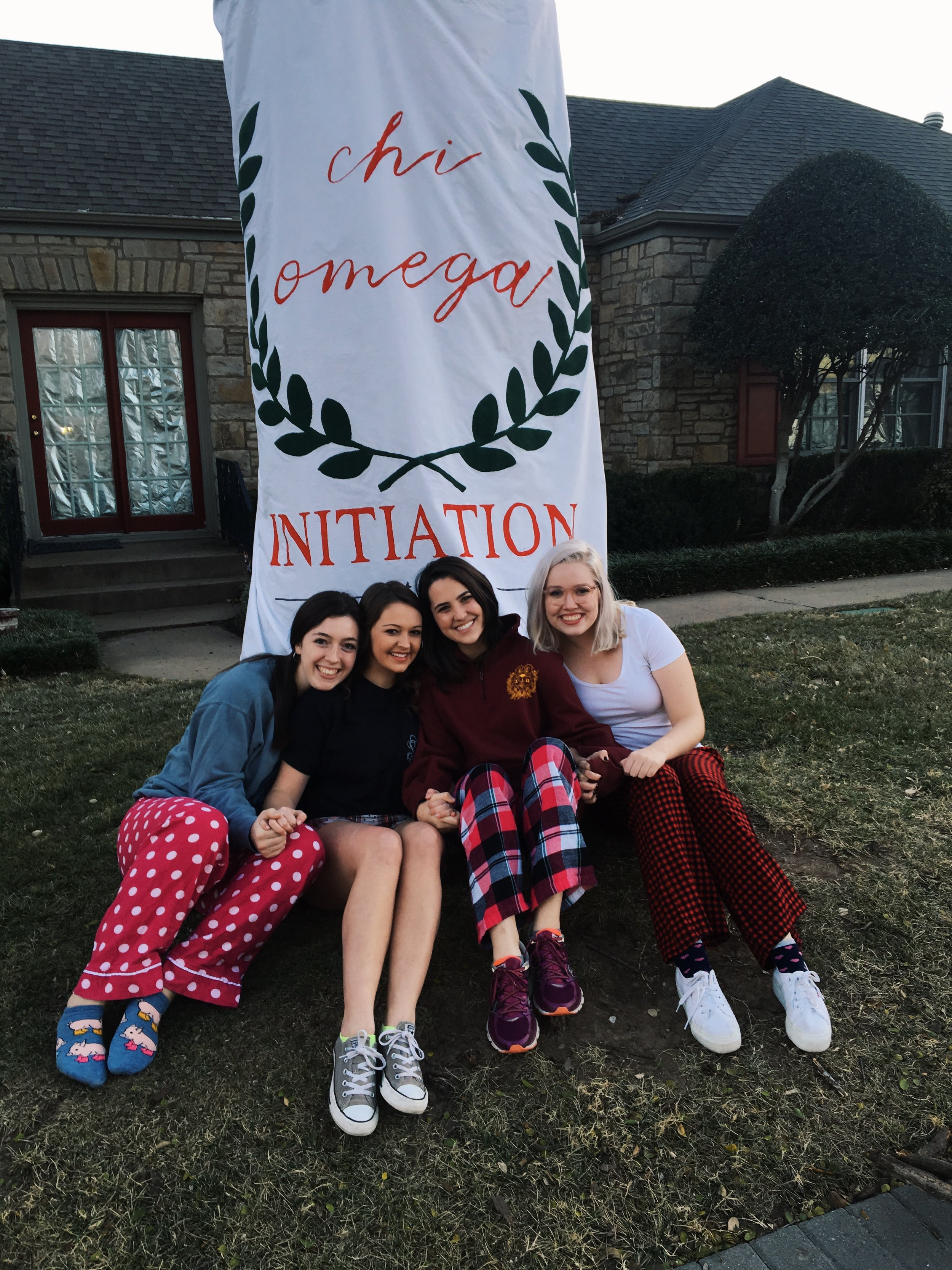 post-Initiation with some girls in my pledge class