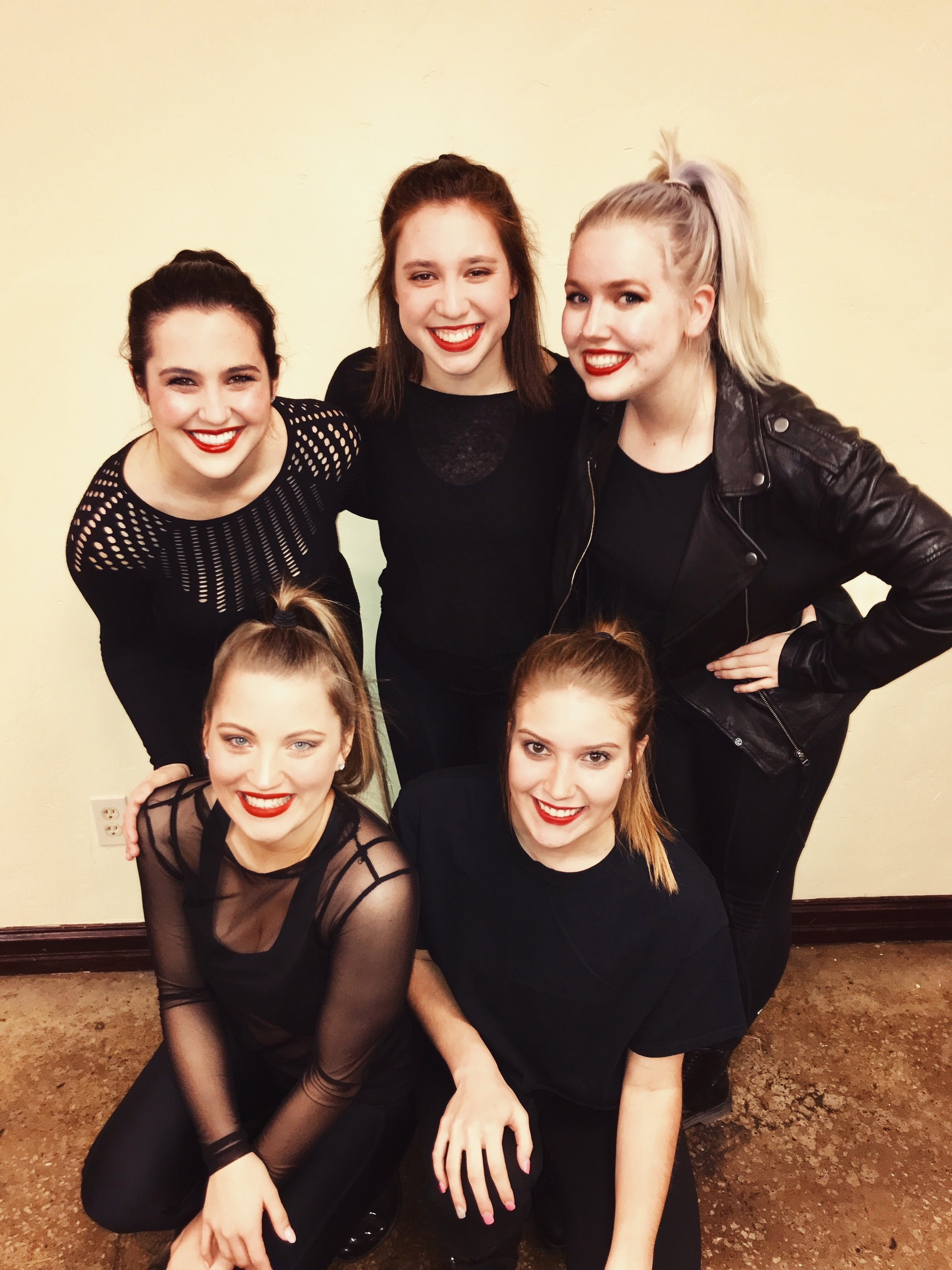 before a dance competition