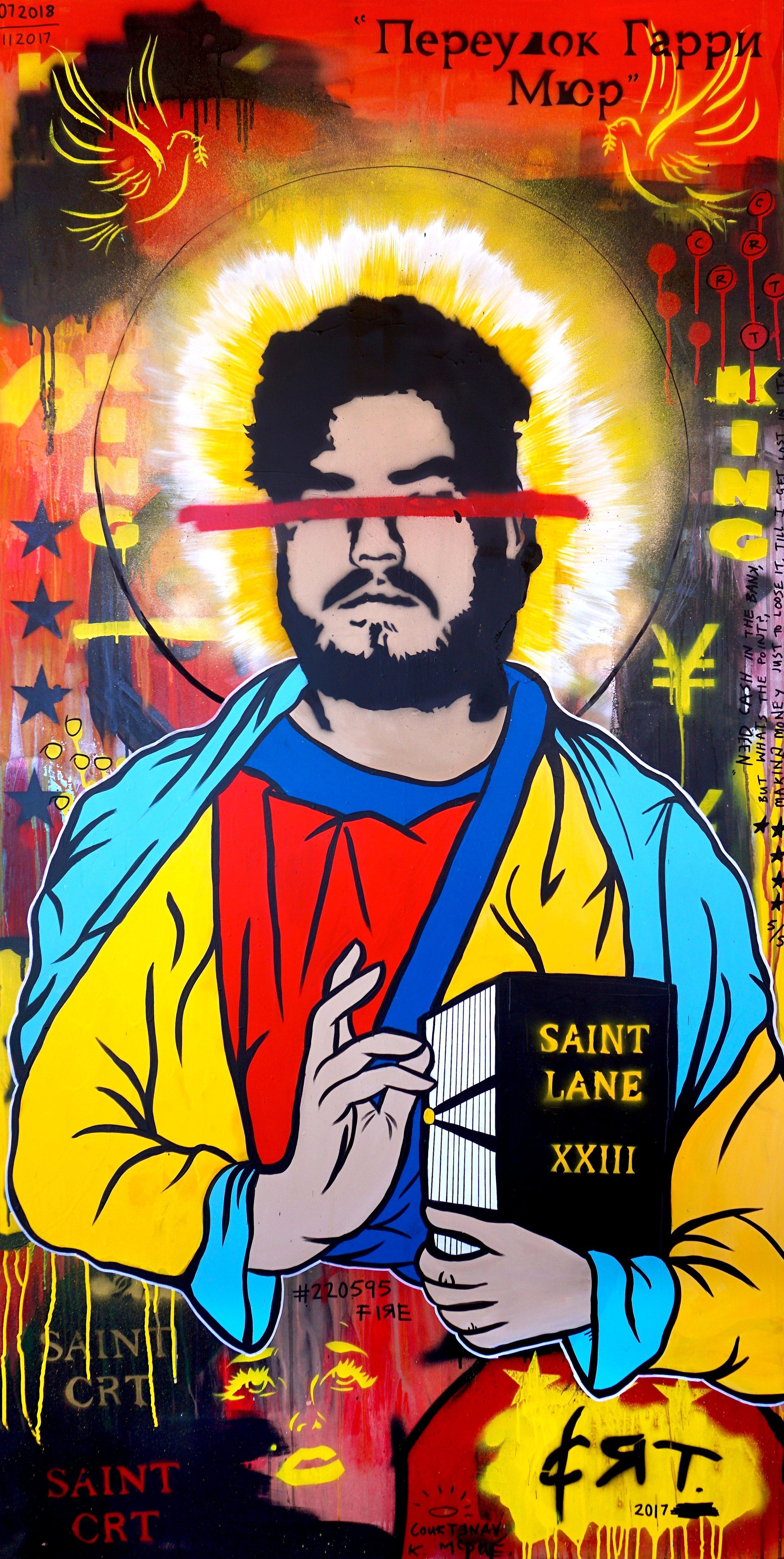 Saint Lane  92cm x 182cm Mixed Media on Board 2017