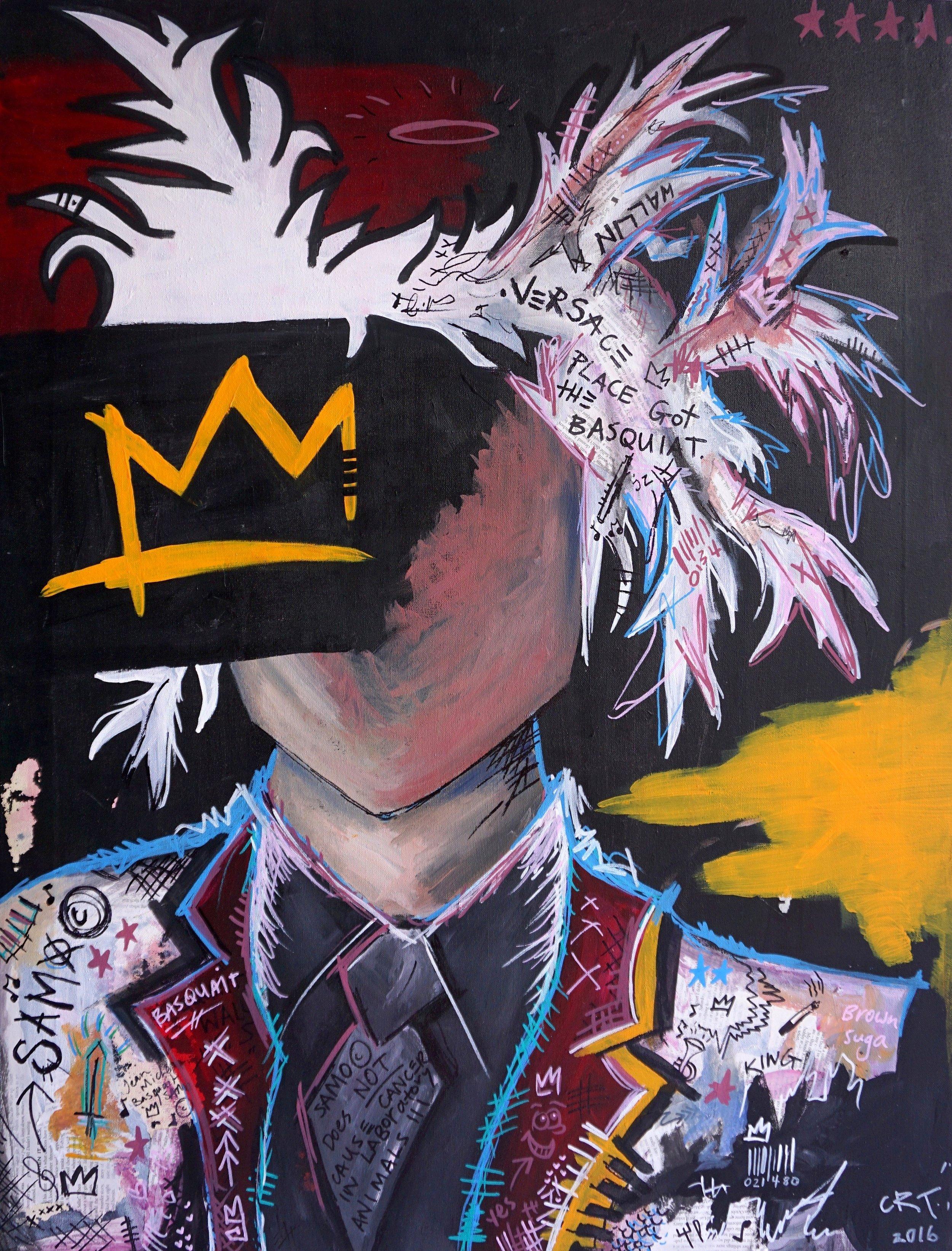 Got That Basquiat  70cm x 110cm Acrylic on Canvas 2016  Sold