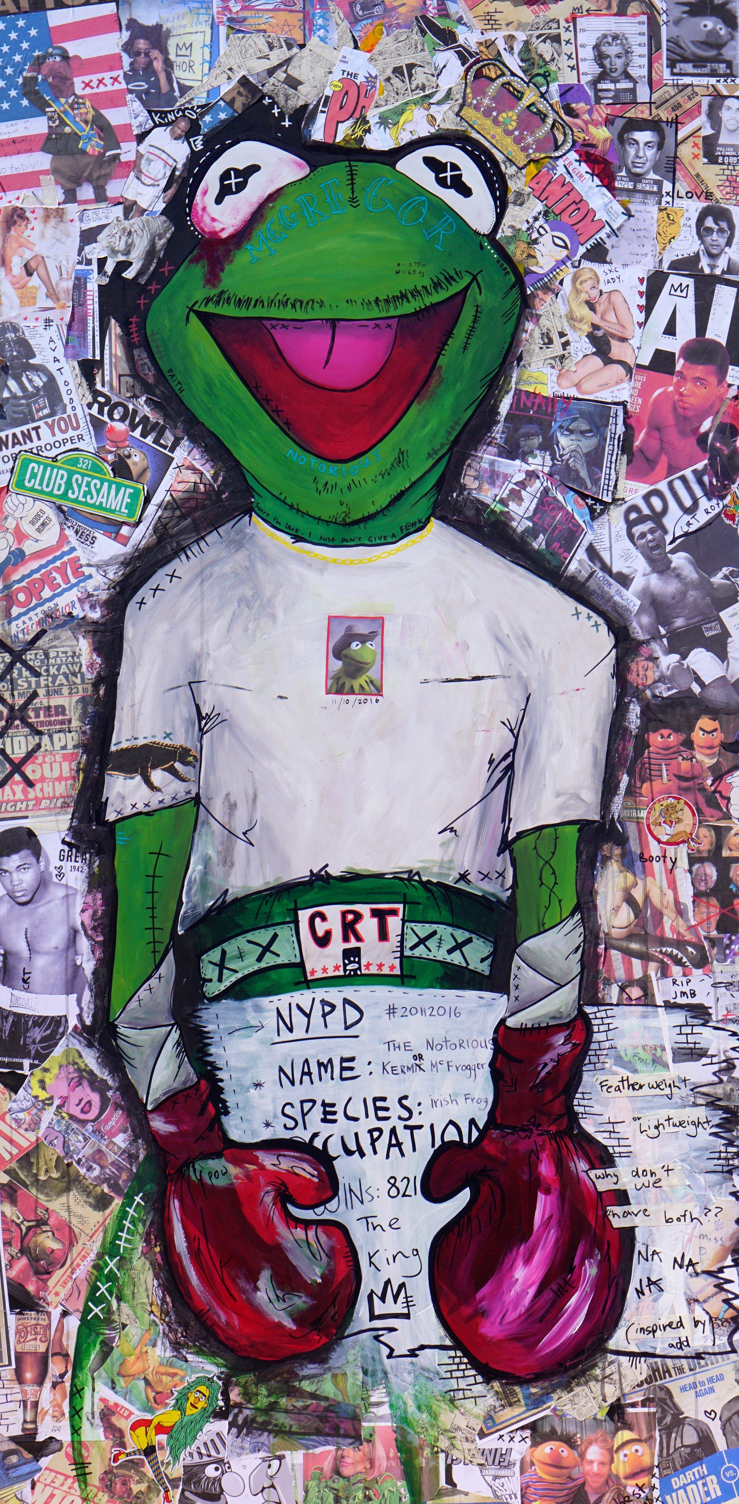 Kermit McGregor  182cm x 92cm Mixed Media on Board 2016  Sold