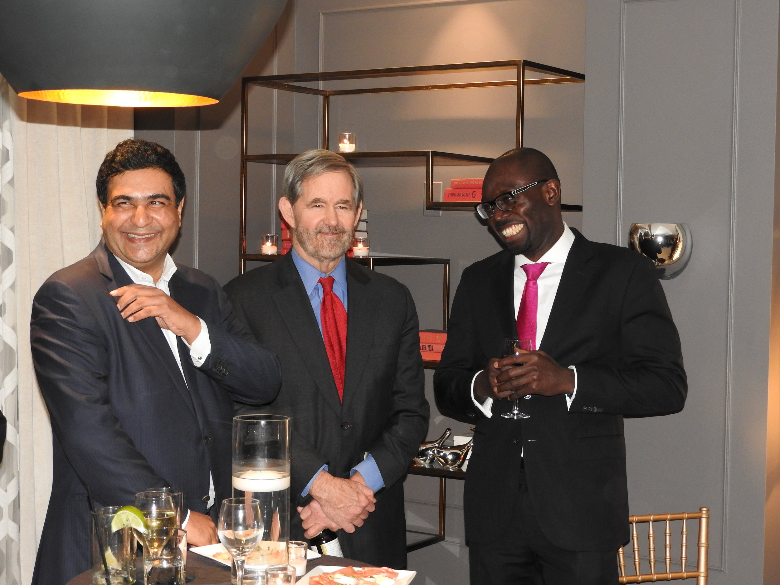 Zouzar Bouka (Board member), Scott Greathead (Board member), Patrick Omeke (Symbion Power)