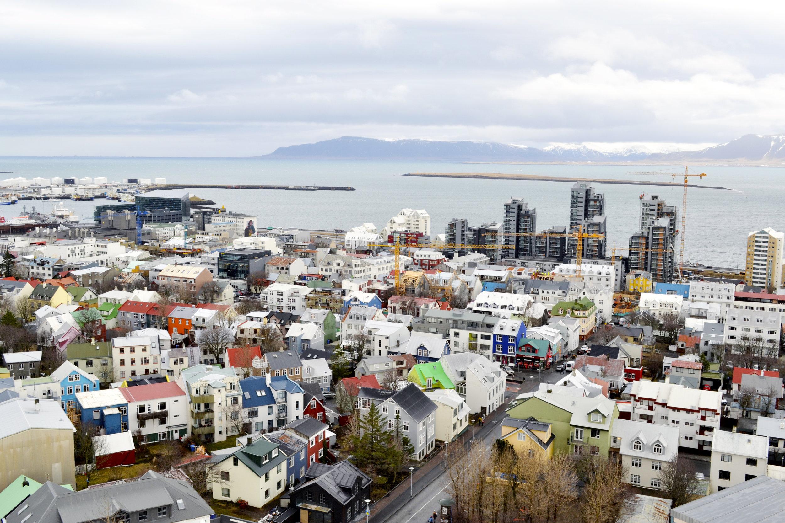 Iceland downtown Reykjavík