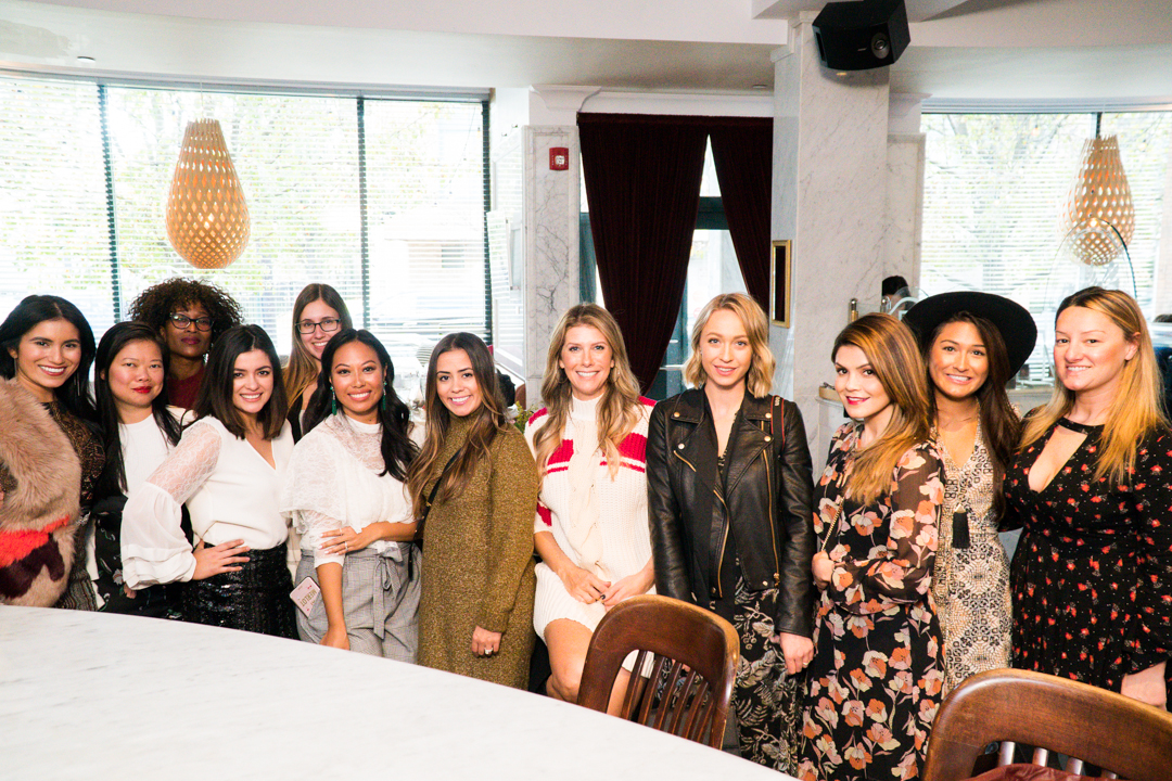 (left to right): Karen -  Karen Ever After ; Jill -  Beautylicious Lifestyle ; Cristina -  Timeless Optimist ; Karen -  Paris and a Latte ; Kathleen -  Endlessly Elated ; Stacey -  Heels n Crumbs ; Sylvia -  Her Name is Sylvia ; Tanya -  Modern Mrs ; Jessica -  Aris Couture ; Ana -  Halcyon Brasserie
