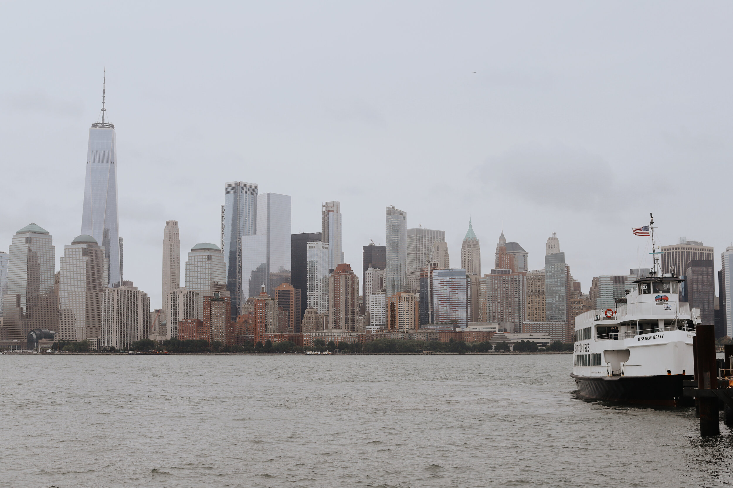 View of New York City from Liberty State Park (Jersey City, New Jersey).