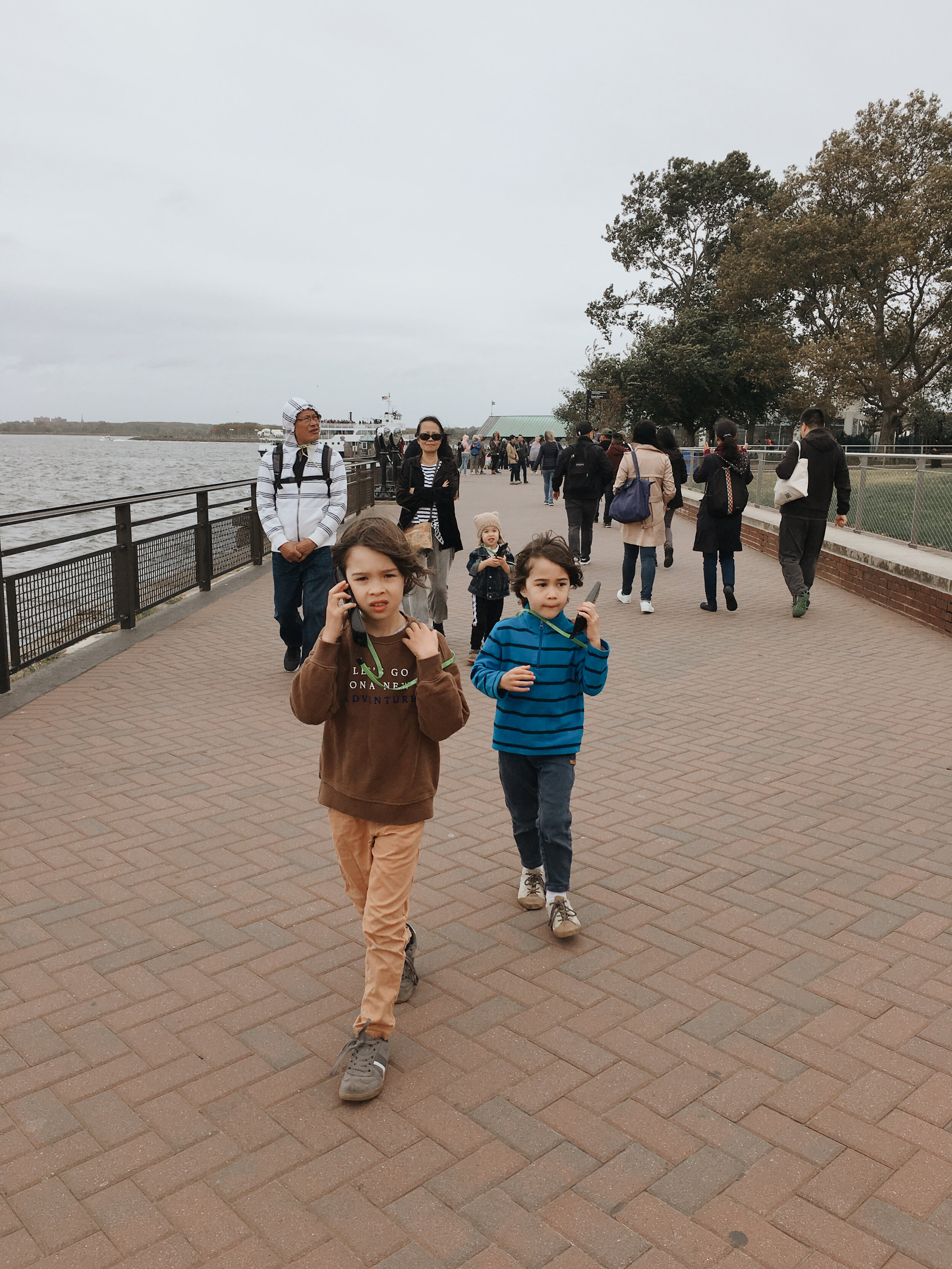 Audio guide tour of Liberty Island grounds.
