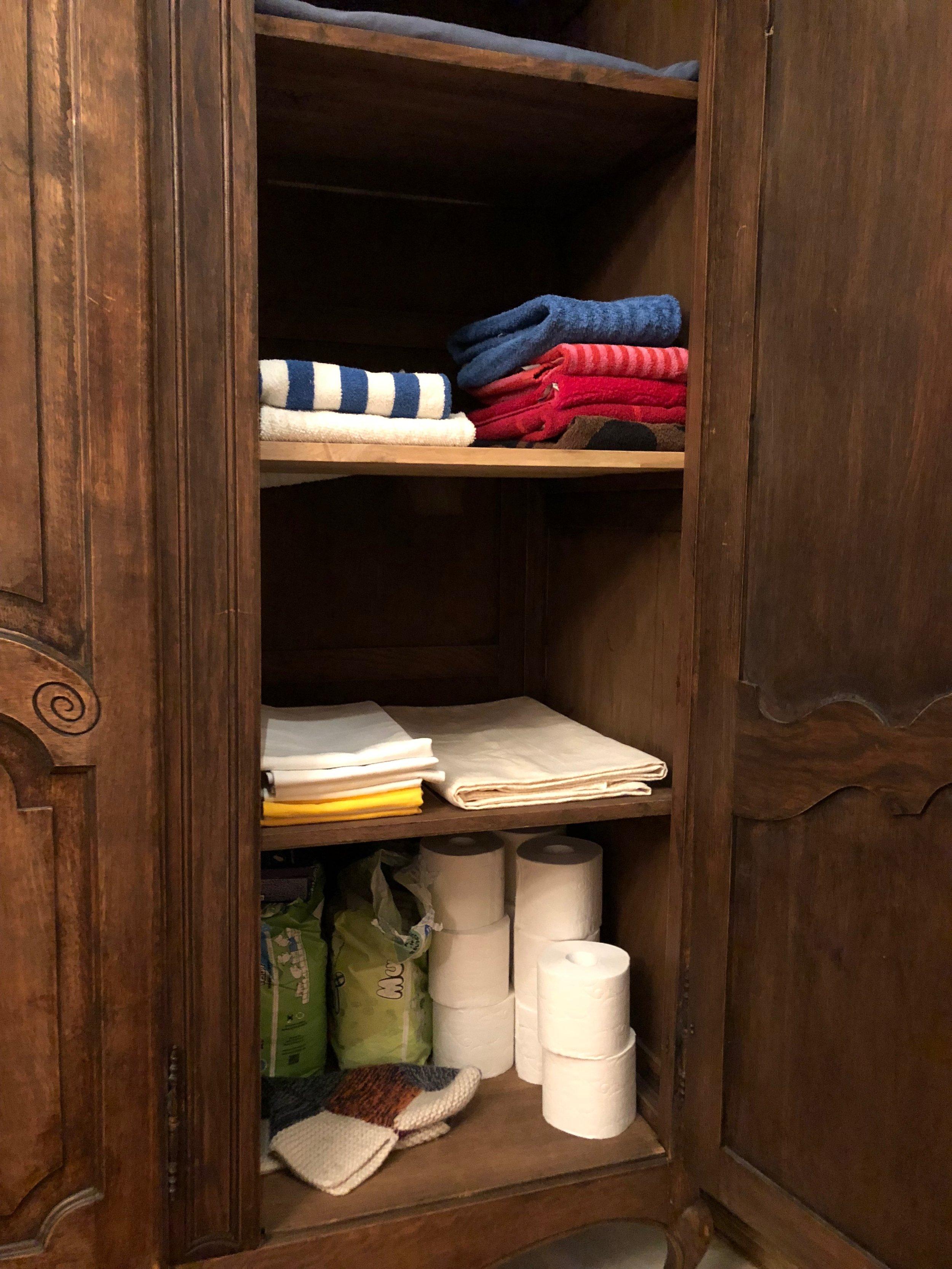 衣柜里的毛巾可是芬兰国宝级品牌 marimekko 的喔!