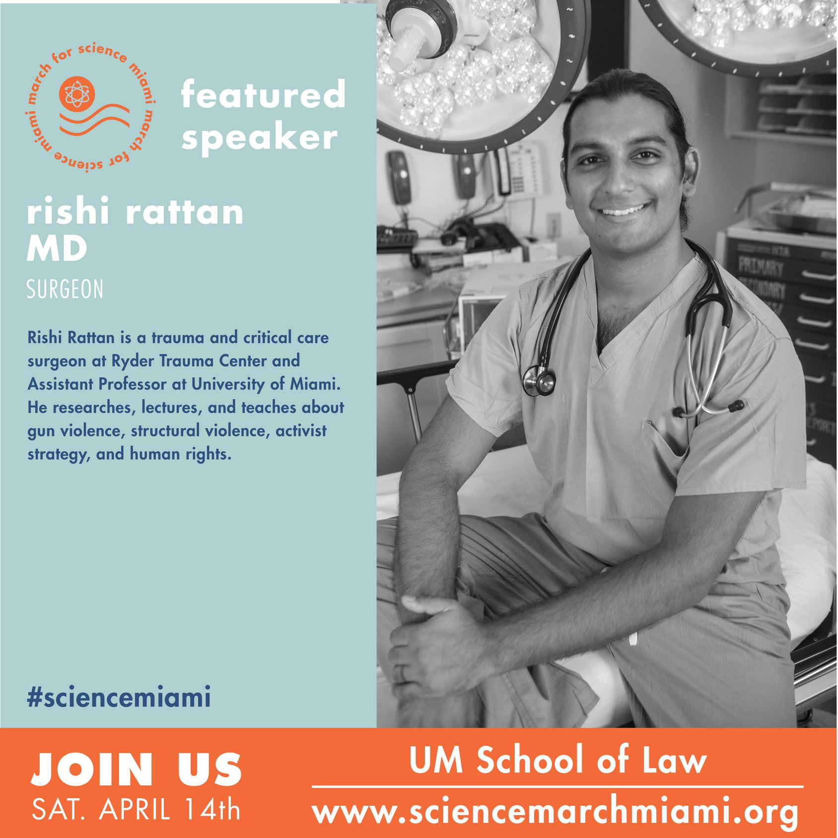 rishi rattan, m.d.   Trauma surgeon at Ryder trauma center, assistant professor at University of miami, and human rights/gun violence prevention activist. follow the cause at  Everytown for gun safety , the  giffords law center , and the  educational fund to stop gun violence .
