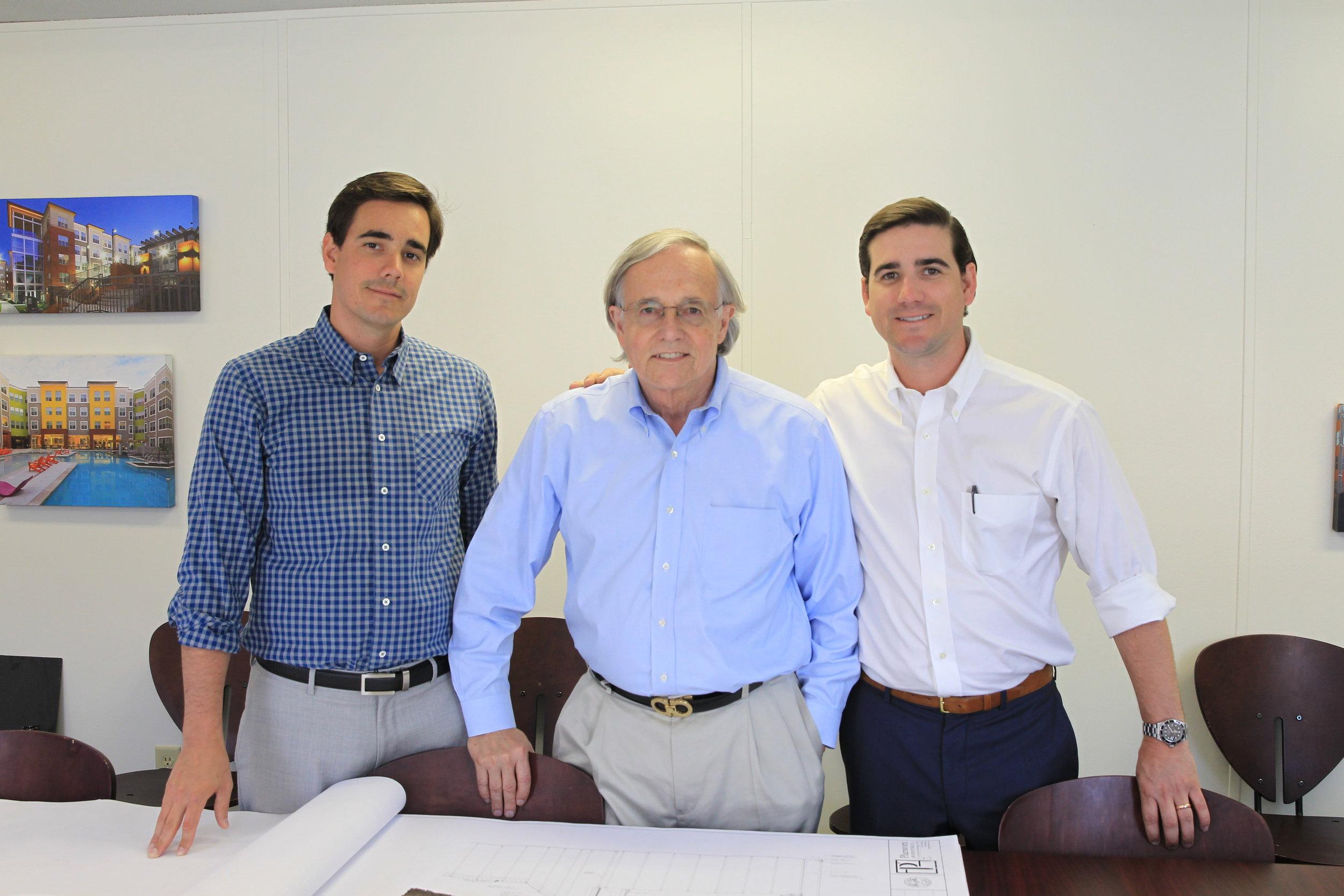 A Third-Generation Family Operation: Thomas F. Taft, Sr. with his sons Thomas F. Taft, Jr. and Jonathan G. Taft