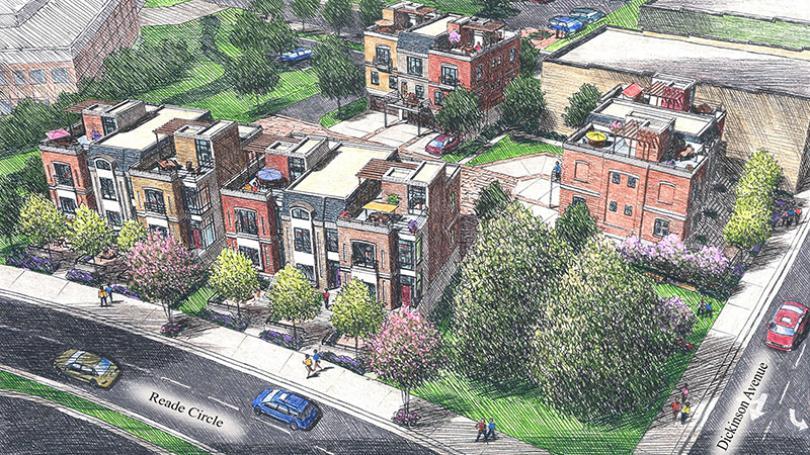 Taft Family Ventures announced it is building a 12-unit townhouse development on property bordered by Reade Circle, Dickinson Avenue and Evans Street.