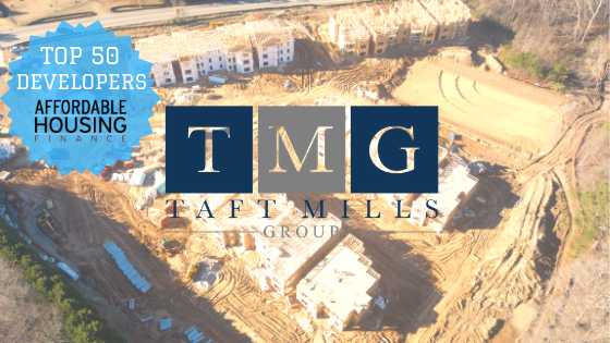 Affordable Housing Finance ranked Taft-Mills Group 44 in its list of the Top 50 Affordable Housing Developers of 2018.
