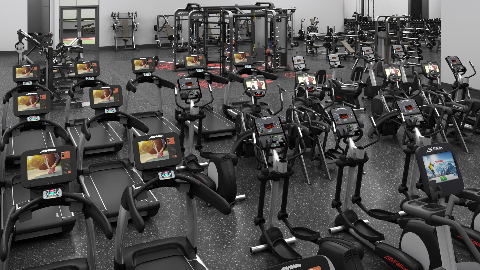 You're also going to use the latest in cardio equipment