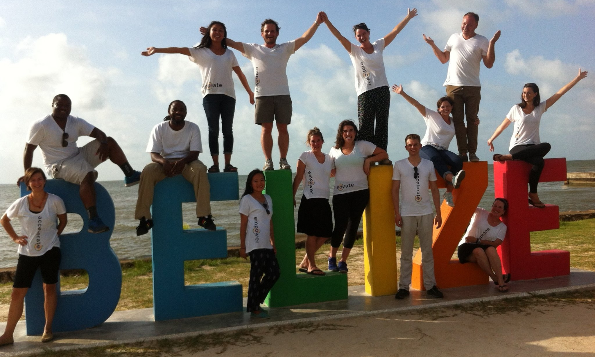 With the peacework team during project belize