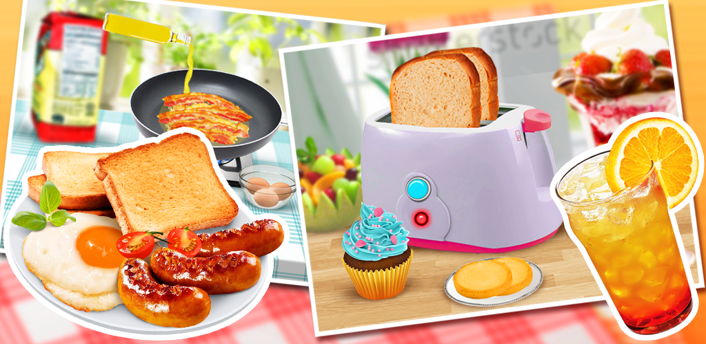 Make Breakfast: Food Game  In Classic Breakfast, pick out your favorite breakfast foods and head to the stove. Meats like sausage and bacon sizzle and fill the room with stomach-growling smells.