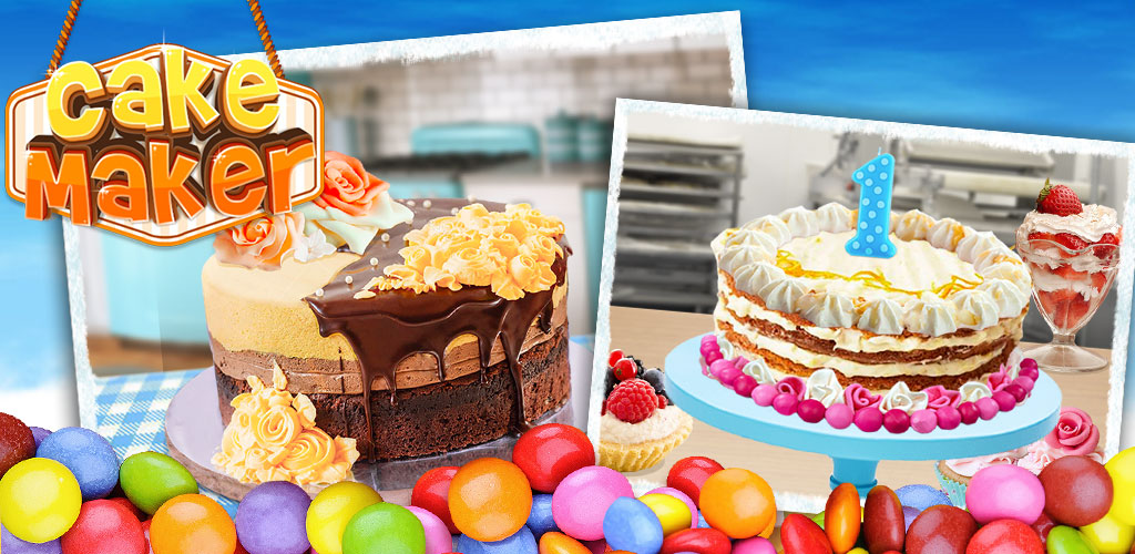 Cake: Kids Food Making Game   You are in charge of deciding what type of cake you want to make. You get to find the right ingredients to get the perfect tasting cake. Finally, you get a chance to play around with decorating your cake in a wild or sophisticated manner.