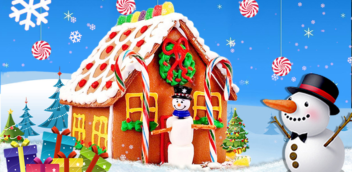 Christmas Candy House Maker - Free                       Build a cute Christmas house out of candy using nothing more than your mobile phone. Kids will have a great time designing and working on cute DIY candy homes.