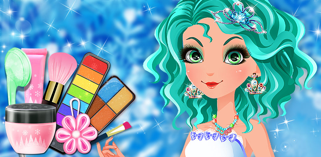 Ice Princess Fever Salon Game  A bunch of girls are coming over to the salon tonight to play some awesome beauty and dress up games.