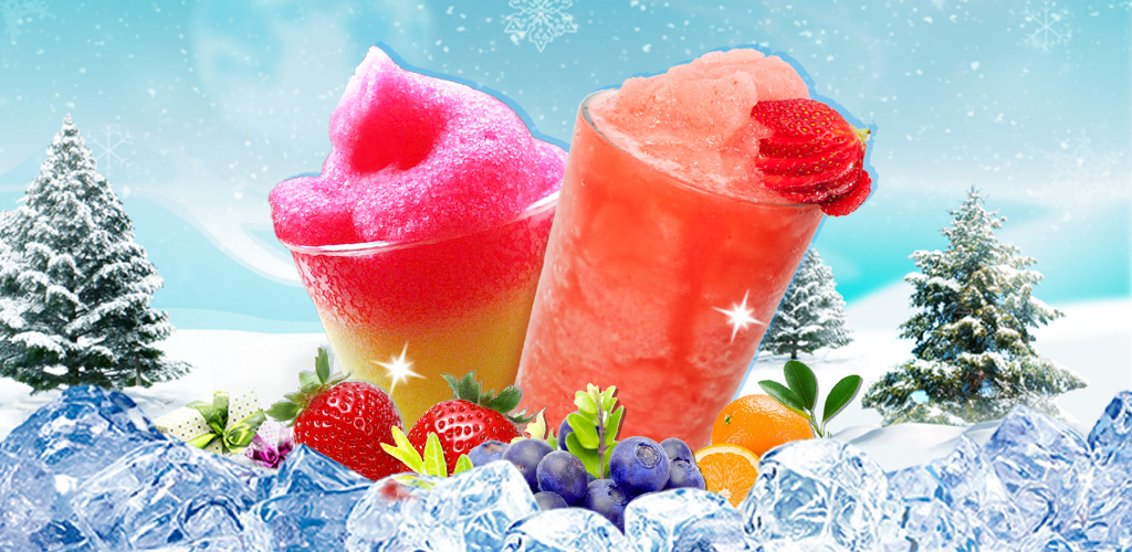 Ice Cold Slushy Maker  Make, mix, shake and drink your very own fruit slushies with this colorful and creative juice cooking game for kids. All you have to do is pick out some colorful fruits, mix in some ice, shake everything up and get ready to drink.